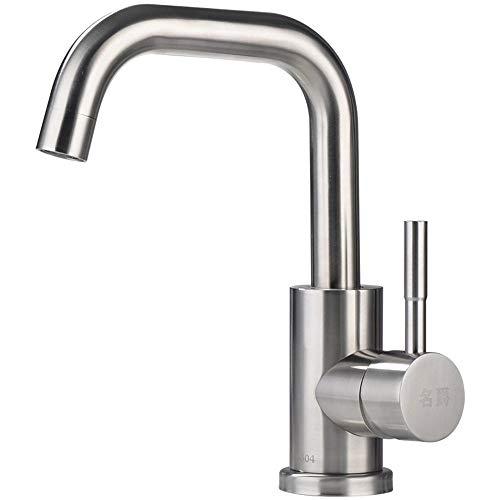 Bleifrei 304 Edelstahl Waschbecken Wasserhahn Toilette Waschbecken heiß und Kalt Wasserhahn