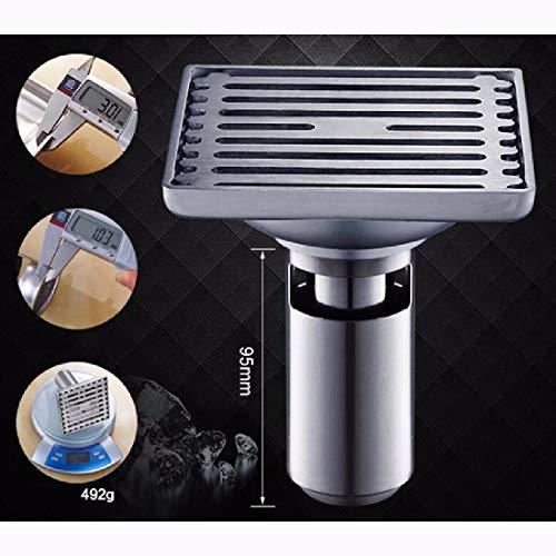 CJSHV Bodenablauf Stock Abfluss Geruch INOX 304 Waschraum Waschmaschine Dusche WC Abfluss Badezimmer Abfluss Kern DREI GapB2