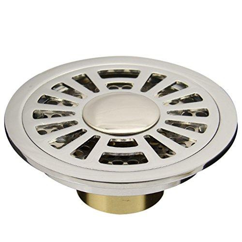 Unbekannt Kupfer Deodorant Ablauf Runde Waschmaschine Schädlingsbekämpfung Überlauf WC Luxus Bodenablauf Verchromt XQQQ