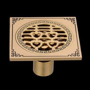 suhang im europäischen Stil Archaize reines Kupfer Deodorant Bodenablauf Waschmaschine WC-Anti Verstopfen Ablauf Bodenablauf Single und Double Bodenablauf a