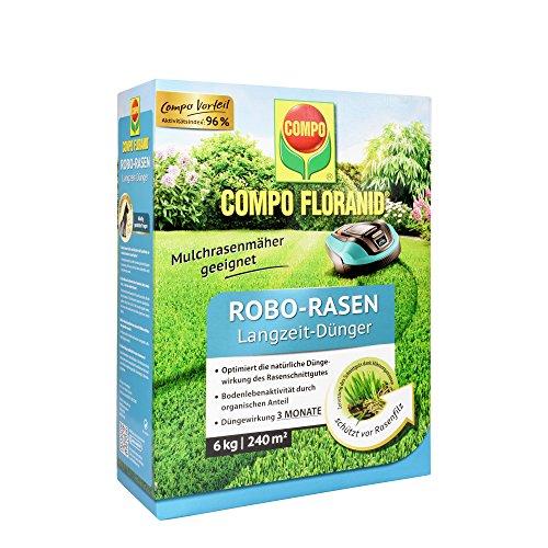 COMPO FLORANID Robo-Rasen Langzeit-Dünger 3 Monate Langzeitwirkung Feingranulat 6 kg 240 m²
