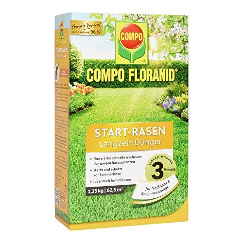COMPO FLORANID Start-Rasen Langzeit-Dünger 3 Monate Langzeitwirkung Feingranulat 125 kg 625 m²