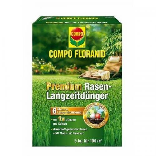 COMPO Floranid Premium Rasen-Langzeitdünger 5 kg Volldünger Langzeitdünger