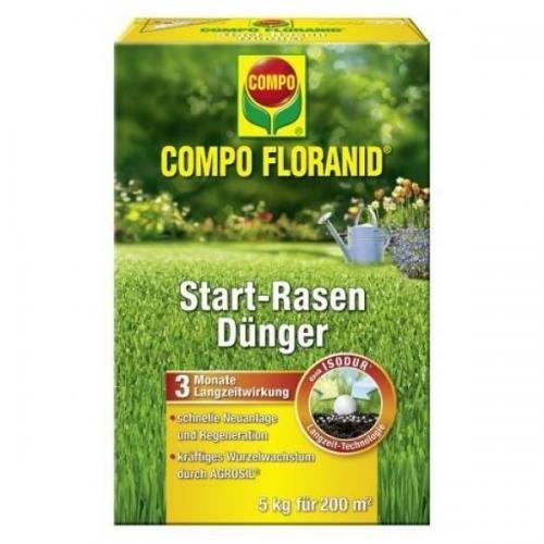 COMPO Floranid Start-Rasendünger 5 kg Volldünger Langzeitdünger