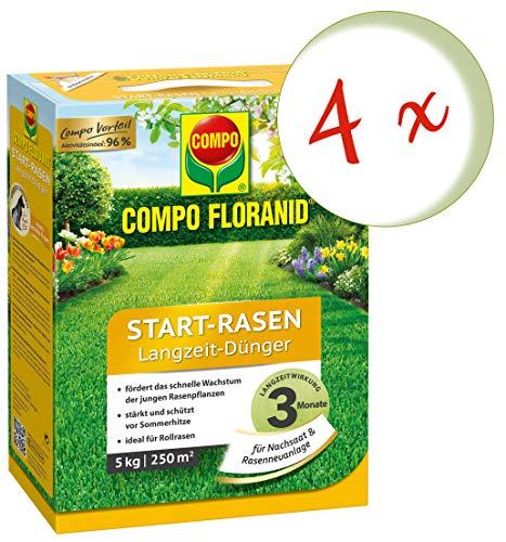 Oleanderhof Sparset 4 x COMPO Floranid Start-Rasen Langzeit-Dünger 5 kg  gratis Oleanderhof Flyer
