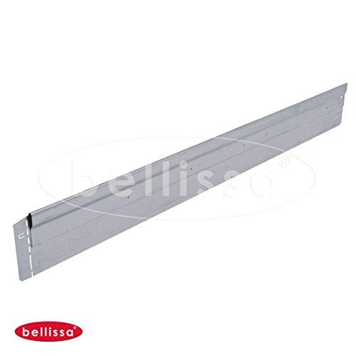 Rasenkante Mähkante metall verzinkt  extra stabil und verwindungssteif für gerade Kanten  Bellissa  H