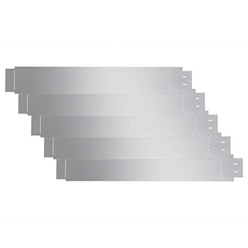 vidaXL 5X Rasenkante verzinkt 15cm hoch Beetumrandung Beeteinfassung Mähkante 5m