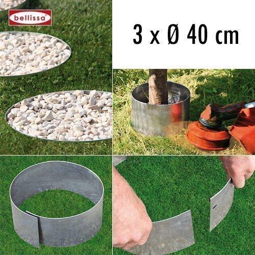 3-er Set Rasenkante Kreis Ø 40 cm H 13 cm 10099