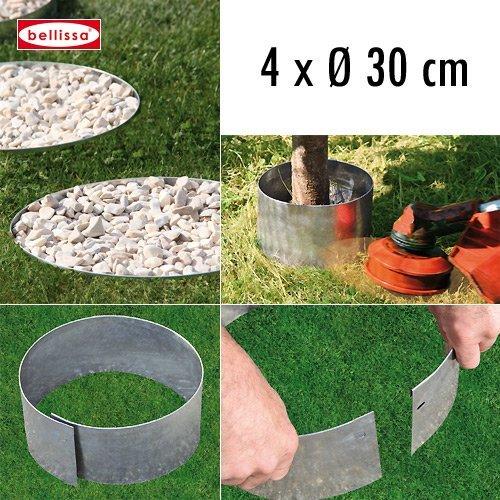 4-er Set Rasenkante Kreis Ø 30 cm H 13 cm 10098