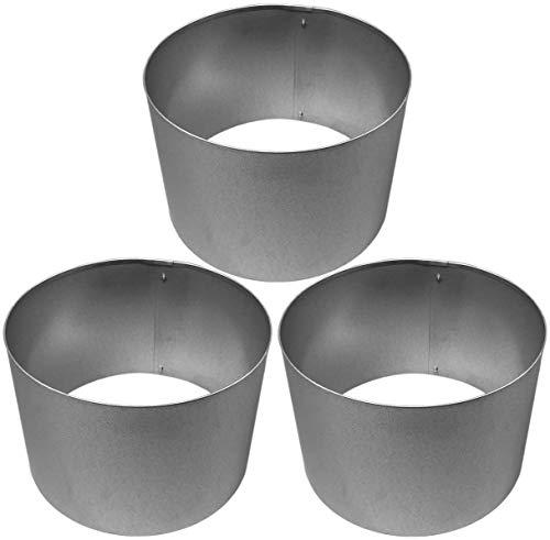 Rasenkanten Baumring Kreis aus Metall durchm 37 cm x 25 cm - 3er Set