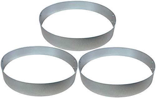 Rasenkanten Baumring Kreis aus Metall durchm 75 cm x 12 cm - 3er Set