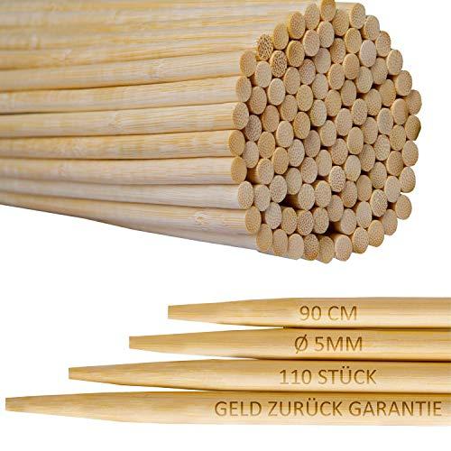 110er Pack  90cm Extra lange Lagerfeuer Spieße  Bambus Marshmallow-Spieße  Grillspieße für Hot Dogs Kebab Wurst  Umweltfreundlich  100 biologisch abbaubar