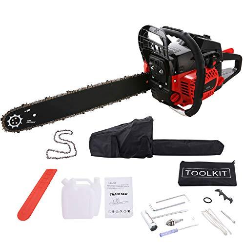 Kettensäge 52 cm³ 30 PS Sägeblatt 51 cm 1 Ketten und Tasche inkl Tool Kit mit Montagewerkzeug 52 cc