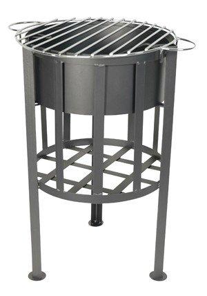 Feuer-Korb mit Grill-Fläche Grill-Roste Feuerschale Barbecue Outdoor 41x32x54cm Metall