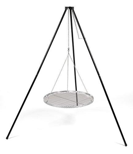Hero Dreibein Schwenkgrill Grillgestell  Ohne Grillrost  für Roste bis 90 cm