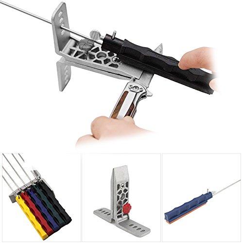 Professionelles Werkzeug zum Schärfen Abziehsteine mit fixem Winkel für Haushalt oder Outdoor schnelle Schleifsteine Abziehstein-Set Schärfen und Schleifen