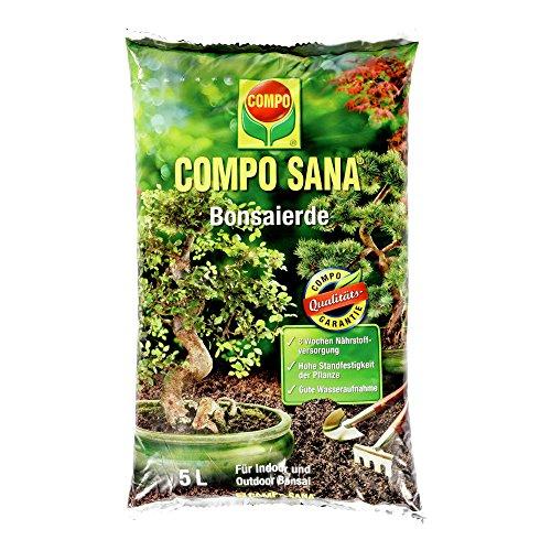 COMPO SANA Bonsaierde mit 8 Wochen Dünger für alle Zimmer- und Freilandbonsai Kultursubstrat 5 Liter
