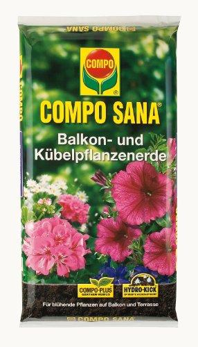 Compo 1182704 Sana Balkon- und Kübelpflanzenerde 50 Liter Beutel