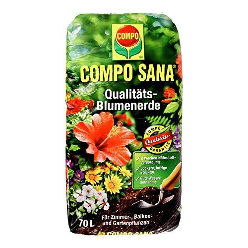 Compo Qualitäts-Blumenerde COMPO SANA 11184 Blumen Erde Cs 70