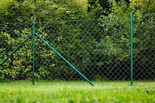 Power Tec Maschendrahtzaun Zaun Gartenzaun Komplettset Zaunsatz 15 x 125 m grün geprüft