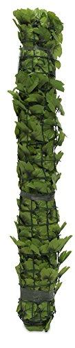 Windhager Sichtschutzhecke Wein Sichtschutz Windschutz Verkleidung für Balkon Terrasse Zaun grün 100 x 300 cm 06500
