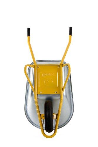 2x Profi Schubkarre Bauschubkarre gelb 100l Liter mit Bodenplatte NEU