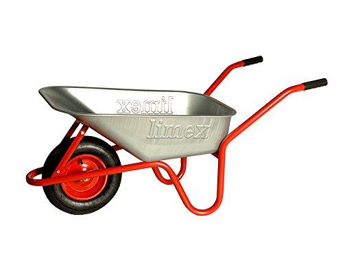 LIMEX Bauschubkarre Gartenschubkarre Rot 100l Liter Mulde verzinkt NEU