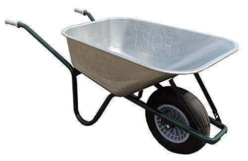 FORT Qualitäts Bauschubkarre Gartenkarre Schiebekarre 100l Liter Stahl NEU