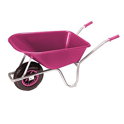PRO-BAU-TEC Gartenkarre Schubkarre Schiebkarre 100l Liter PP Mulde Pink NEU