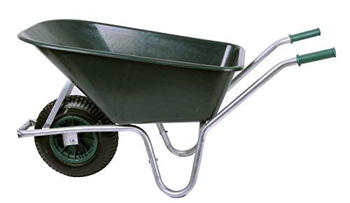 Schubkarre 100 ltr 250kg PVC grün Gartenkarre Bauschubkarre Baukarre