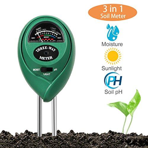 3 in 1 Bodentester PH Wert Messgerät Keine Batterie Erforderlich Digitales Bodenmessgerät PH Saurer Für Garten Pflanzen Erde Wasser