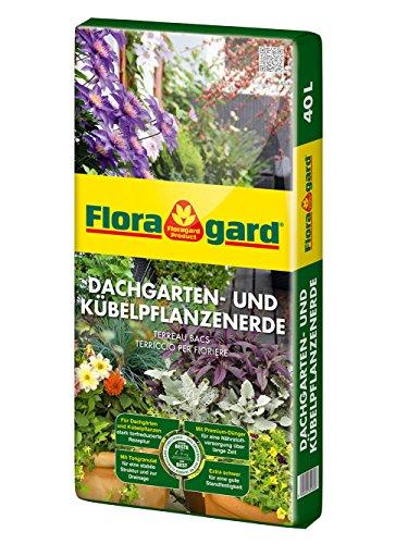 Floragard Kübelpflanzen und Dachgartenerde 40 L • für große Pflanzkübel und zur Dachgartenbepflanzung • torfreduziert