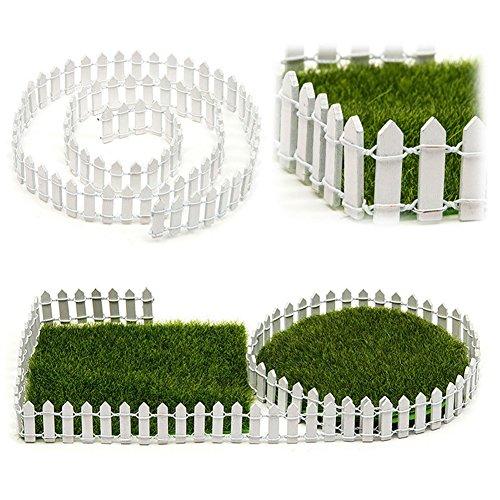 GEZICHTA Gartenzaun Lattenzaun pales Holz-Zaun für Garten-Dekoration weiß 5 cm