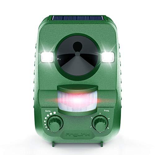AngLink Solar Katzenschreck Ultraschall abwehr mit Batteriebetrieben und Blitz Empfindlichkeit Wetterfest Hundeschreck Tiervertreiber 2018 Neuste Upgrade-Version
