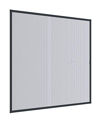 Windhager Insektenschutz Spannrahmen Fliegengitter Alurahmen für Fenster 140 cm x 150 cm anthrazit