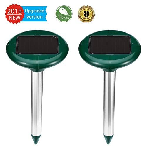 ZEBRAFI 2 Stück Solar MaulwurfabwehrUltrasonic Solar MaulwurfschreckMole Repellent Maulwurfbekämpfung Schädlingsbekämpfung mit IP56 für Den Garten
