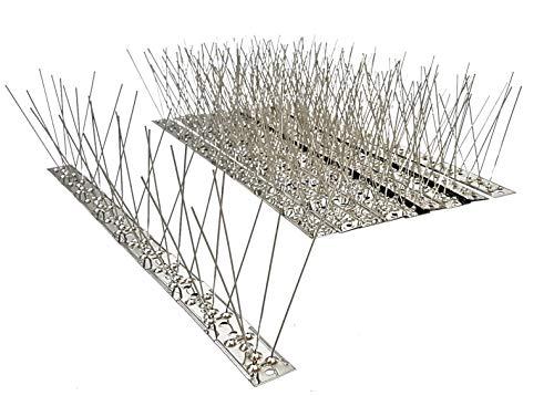 10 St 5 m Taubenspikes 3-reihig auf Edelstahlleiste Taubenabwehr Vogelschutz - DIREKT VOM HERSTELLER