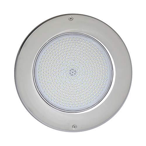 LED Pool Light 12VAC 35W Licht weiss Gehäuse V4A D260x25mm OspaWibre Ersatz