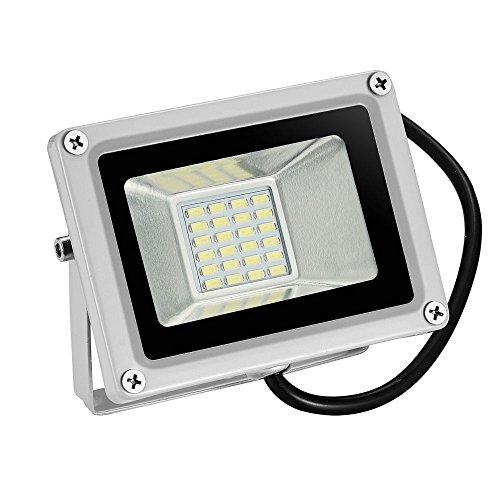 TEquem LED 12V DC Kaltweiß 20W LED Außenstrahler Wasserdicht IP65 Aluminium Strahler Flutlicht Wandstrahler 1800 Lumen 6000K-6500K