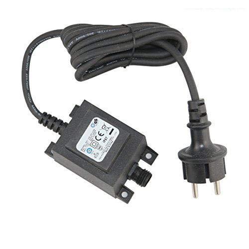 VBLED 21W NetzteilTrafo  Transformator 12V AC wassergeschützt IP67 für Außen- Innenbereich Input 230V Anschluss IP44 19 m Kabel für GartenspotGartenstrahler