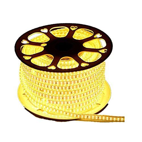 Wasserdicht Zweireihige 220V 2835 IP65 LED Band LED-Stripe 10m LED Streifen Lichterkette1800 LEDs 180 LEDsMeter viel heller als normale Lichtband warmweiß