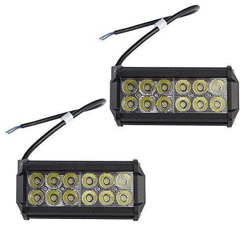 Greenmigo 2X 36W Led Arbeitsscheinwerfer Offroad Lampe Flood Scheinwerfer LED Arbeitslicht Light Bar 12V 24V Zusatzscheinwerfer Rückfahrscheinwerfer für Traktor Bagger SUV - 60 Grad Wasserdicht IP67 3200LM