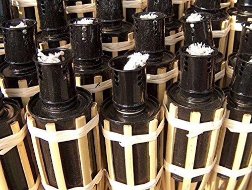 iapyx 16x Gartenfackel Bambusfackeln Party Öllampen Fackeln inkl Dochte W42