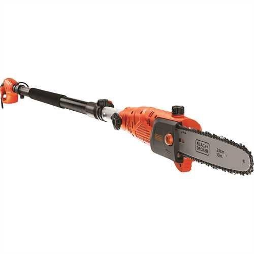 BlackDecker Hochentaster 800W 25 cm Schwertlänge 27 m Länge 11 ms Kettengeschwindigkeit schwenkbarer Kopf PS7525