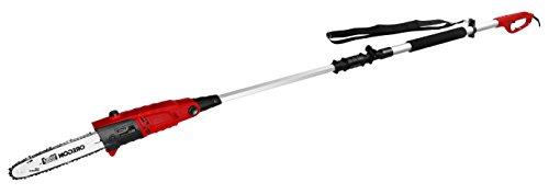 Matrix 310550351 Hochentaster EPS 710 Watt Schwertlänge 300mm Schnittwinkel verstellbar Oregon Kette und Schwert Tragegurt Schnellverschluss W rot schwarz