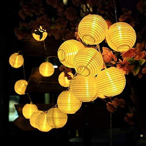 Spardar Solar Lichterkette 6 Meter 30 LEDs Lampions Laterne Solarbetrieben Lichterkette Wasserfest Weihnachten Dekoration für GartenTerrasseHofHausWeihnachtsbaumaußenFeiern Warmweiß