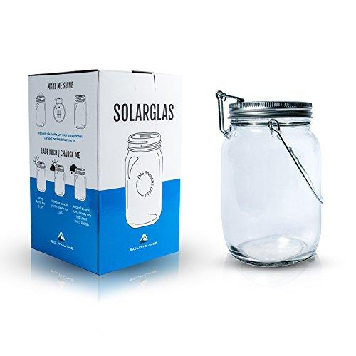Das saubere Licht – Solarglas von Southlake welches als SolarlampeLaterneSolar Sun JarGarten-lampe für Balkon oder Garten genutzt wird Alternative für gewöhnliche Solarleuchte