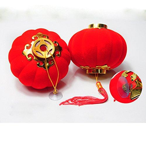 Flikool Rot Quasten Laterne Chinesisch Dekoration Anhanger Ornaments fur Hochzeit Neujahr Fruhlingsfest Outdoor Garten Baum etc - Pack of 25pcs Diameter 48cm