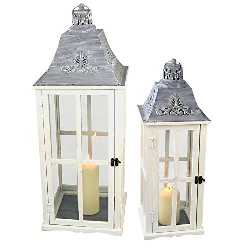 Multistore 2002 2tlg Laternen Set Stalllaterne H7558cm Windlicht Kerzenleuchter Kerzenhalter Gartenleuchte Dekoration Tischdekoration