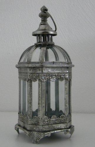 Gartenlaterne WINDLICHT Krone Metall Leuchte Windschutz Kerze Teelicht rustikal